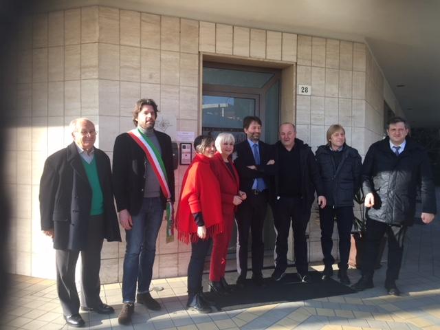 Franceschini in visita al Museo Secondo Casadei a Savignano sul Rubicone con Giordano Sangiorgi (MEI)